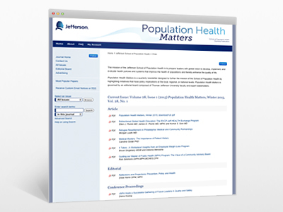 Population Health Matters Journal